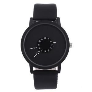 【送料無料】orologio uomo donna bianco nero acciaio cinturino pelle design moda elegante