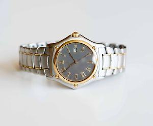 【送料無料】ebel 1911 classique mens wristwatch 18 kt and stainless steel with box quartz