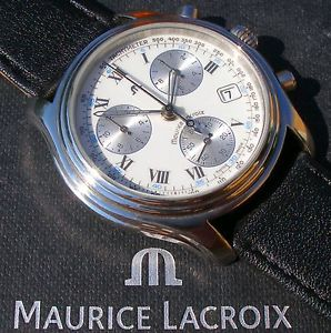 【送料無料】edler maurice lacroix schleppzeiger chronograph