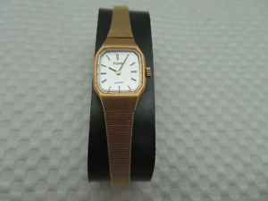 ladies gold toned pulsar quartz wristwatch nos