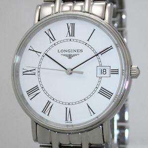 【送料無料】klassische longines prsence quartz herrenuhr 33 mm topzustand ref l47204