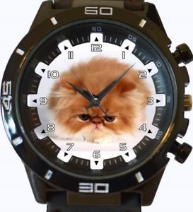 【送料無料】persian fluffy cat gt series sports wrist watch
