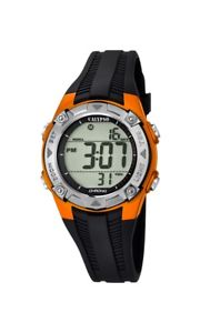 【送料無料】calypso watches chrono k56857 schwarz orange neu 1 batterie extra
