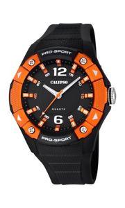 【送料無料】calypso watches k56763 orange schwarz neu 1 batterie extra