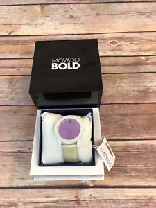 【送料無料】movado womens swiss bold white silicone strap watch 38mm 3600410 nwt