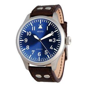 【送料無料】aristo 3h159, fliegeruhr blaue 47 beobachter