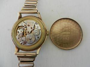 9ct gold gents longines wrist watch