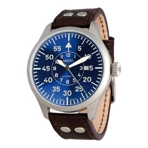 【送料無料】aristo 3h158, fliegeruhr blaue 47 pilot
