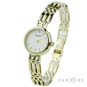【送料無料】accurist ladies 9ct gold quartz wristwatch