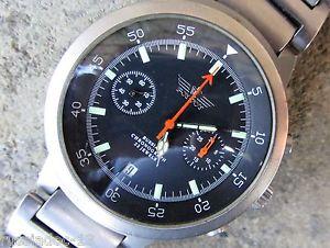 【送料無料】cronografo russo poljot titanio movimento 3133 perfettamente funzionante