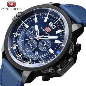 【送料無料】original mini focus brand luxury leather watches blue xmas gifts for him dad men