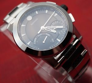 movado vizio chronograph,tungsten bezel,carbon fiber,mens model 0607030,2995