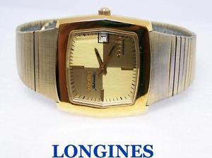 【送料無料】14k gold plated longines 5 star admiral mens automatic date watch* exlnt cond