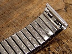 kreisler mens stainless steel vintage expanding watch bracelet nos 19mm 34in