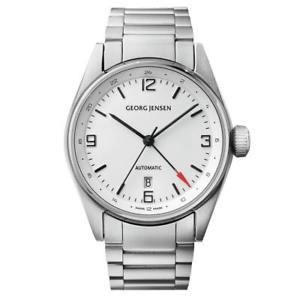 【送料無料】georg jensen delta mens automatic dual time gmt watch swiss made 3575599