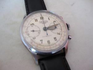 【送料無料】vintage 2 register chronograph fortress landeron 48,ref1003,swiss