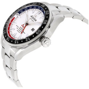 nib alpina alpiner 4 gmt automatic watch, 44mm, limited ed, msrp 2495, 10 pic