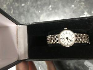 【送料無料】baume mercier ladies 14k solid white gold watch quartz