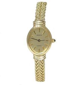 【送料無料】vintage ladies 585 14k yellow gold geneve six row braided rope wrist watch