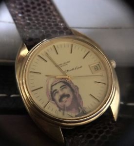 【送料無料】favre leuba geneve automatic gold filled large 36mm saddam hussein iraq with box