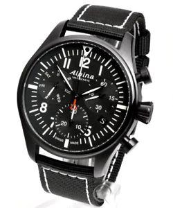 【送料無料】alpina startimer pilot quartz chronograph neu herrenuhr
