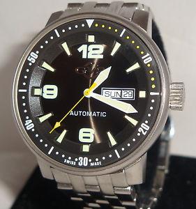 【送料無料】mens gv2 swiss made automatic watch 25 jewels swiss handcrafted 36500 limited