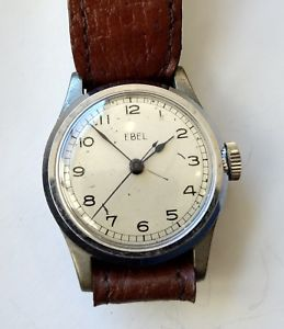 vintage ebel british military year 1940s issue wristwatch