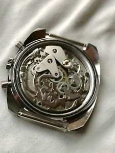 vintage lanco 7733 panda chronograph