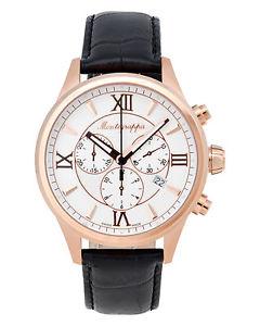 【送料無料】montegrappa fortuna chronograph mens rose gold watch idfowcrj swiss made
