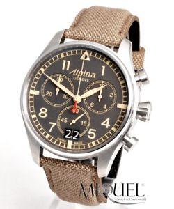 alpina startimer pilot chronograph  neu  herrenuhr