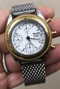送料無料 bulova chronograph cronografo oro gold automatic automatico day date 法事 引っ越し祝い 節分 割引
