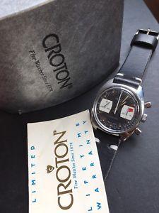 【送料無料】1960s croton computer swiss mens chronograph watch valjoux 7733 reduced