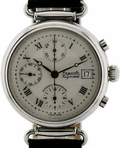 【送料無料】auguste reymond herren chronograph in stahl 37mm, automatik basis valjoux 7750