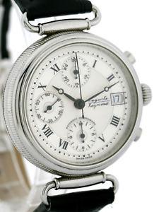 auguste reymond herren chronograph in stahl 37mm, automatik basis valjoux 7750