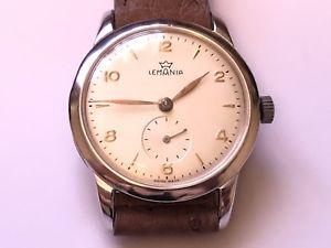 【送料無料】vintage lemania beautiful wristwatch