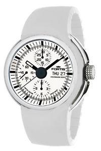 【送料無料】fortis mens 6612032 si02 spaceleader automatic chronograph rubber watch
