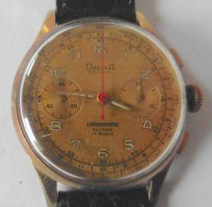 【送料無料】dreffa chronograph landeron 51 geneva swiss 1950ziger jahre