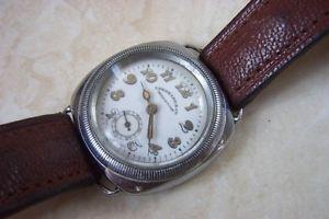 【送料無料】a eberhard amp; co hermetic manual wind wristwatch c1930