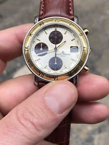 baume amp; mercier chrono chronograph transpacific oro gold steel acciaio a53067
