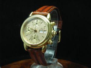 【送料無料】m amp; m gold mantel automatic chronograph herrenuhr ref 4973 kaliber valjoux 7750