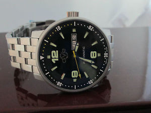 mens gervil watch swiss handcrafted 25 jewels limited edition stainless steel