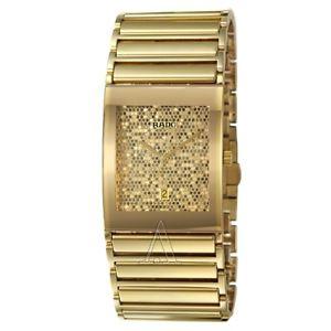 【送料無料】rado integral mens swiss quartz gold watch r20863252
