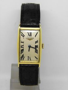 【送料無料】montre longines model tank allong en or jaune 18k mouvement 1416 ,vintage