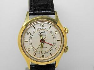 montre rveil oris wrist alarm   rf a4850 mouvement as  vintage