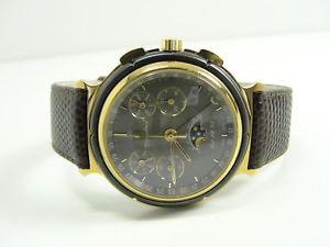 【送料無料】etienne aigner chronograph mondphase vollkalender handaufzug ea73 watch orologio