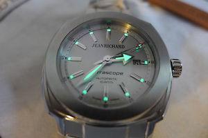 nib jean richard terrascope automatic watch on bracelet, msrp 4500 25 pics