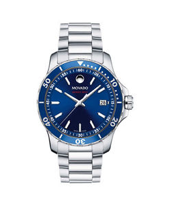 【送料無料】movado mens swiss series 800 stainless steel bracelet watch 40mm 2600137
