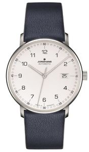 【送料無料】authorized dealer junghans 027473500 form a blue leather strap automatic watch