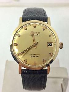 【送料無料】solid 14k longines admiral 5 star automatic watch 1960s cal 505* exlnt* serviced
