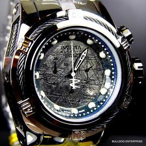 mens invicta reserve bolt zeus meteorite high polish steel chronograph watch